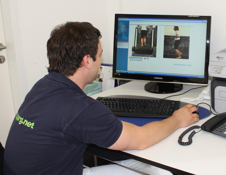 Videogestützte Laufanalyse  (c) Sanitätshaus Quarg GmbH