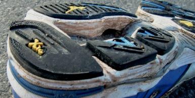 Hinten außen abgelaufener Schuh (c) Laufschuhkauf.de