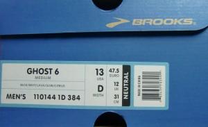 Brooks Ghost 6 Karton (c) Laufschuhkauf.de