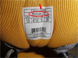 Laufschuhweite auf Schuhzunge (c) Laufschuhkauf.de