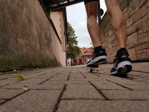 Fußaufsatz beim Laufen (c) Laufschuhkauf.de
