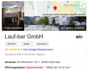 Laufbar München Google Bewertungen (c) Laufschuhkauf.de