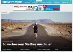 Homepage der Runners World (c) Laufschuhkauf.de